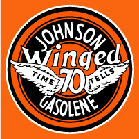 "Johnson Winged 70 Decal @ 12"", $30.00 Each"