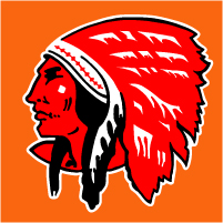 "Red Indian Contour Decal @ 12"" Tall, $30.00 Each"