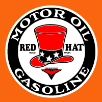"Red Hat Decal @ 12"", $30.00 Each"