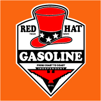 "Red Hat Decal #2 @ 12"" x 13"" Tall, $30.00 Each"