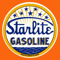 "Starlight Gasoline Decal @ 12"", $30.00 Each"