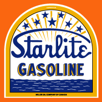 "Starlite Gasoline Tombstone Decal @ 12"", $30.00 Each"