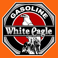 "White Eagle Gasoline Octagon @ 12"", $30.00 Each"