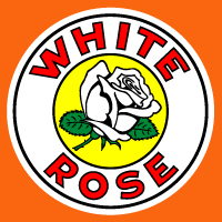 "White Rose Decal @ 12"", $30.00 Each"